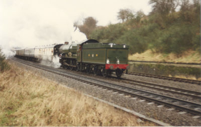 No. 6024's loaded test run, climbing Hatton Bank in reverse gear, 8 February 1990. © Chris Brown