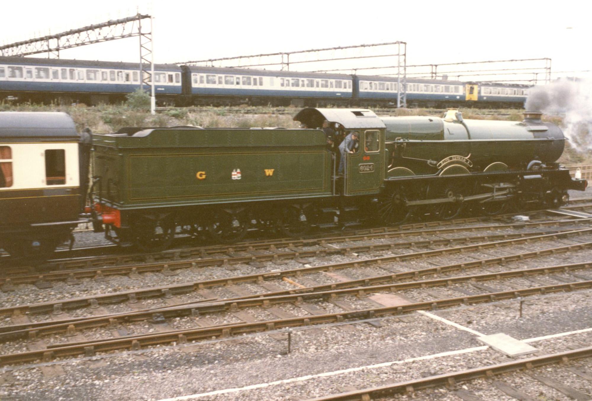 No. 6024 at Tyseley, April 1990. © Chris Brown