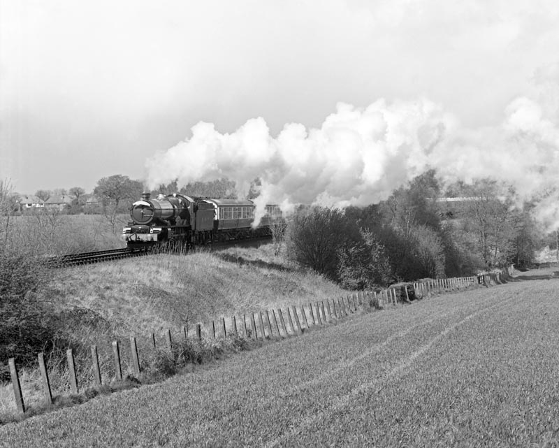 No. 6024 at Fulford Heath on its first day of public mainline trains since 1962, 15 April 1990. © Ian McDonald
