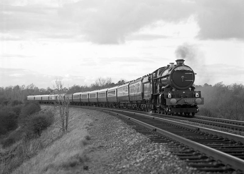 No. 6024's mainline comeback weekend with a train near Danzey, 16 April 1990. © Ian McDonald