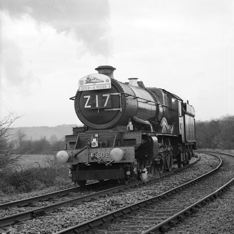 No. 6024, having run to Derby, runs light engine on its turning moving for the day, 12 January 1991. © Ian McDonald