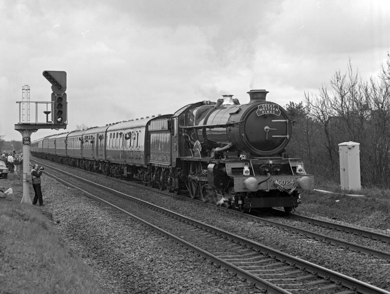 No. 6024 on the Midland Mainline at Kingsbury Junction, 17 March 1991. © Ian McDonald