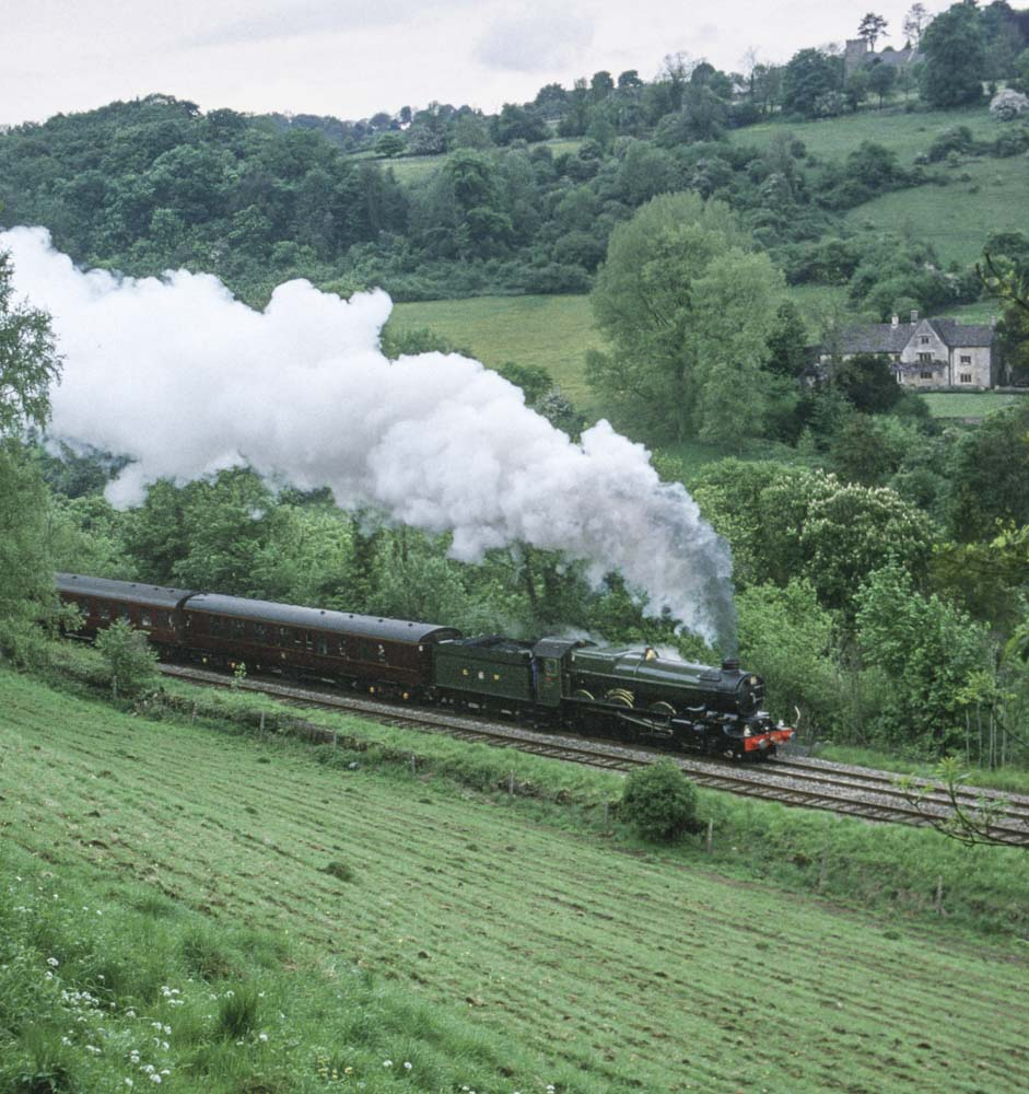 No. 6024 climbs Sapperton Bank when running from Swansea to Didcot. 22 May 1994. © Martyn Bane