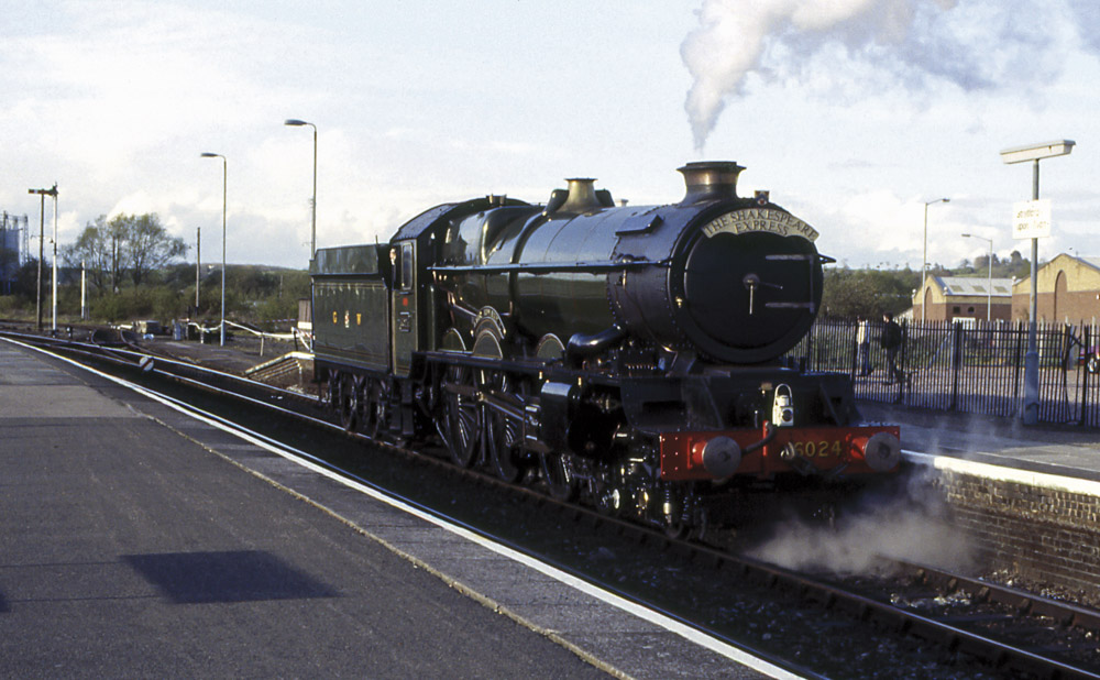 No. 6024 back in service. Stratford-upon-Avon, 16 April 1990.. © Martyn Bane
