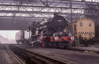 Test run preparations in the old steam depot at Southall in West London, 16 March 2000. © Dave Fuszard