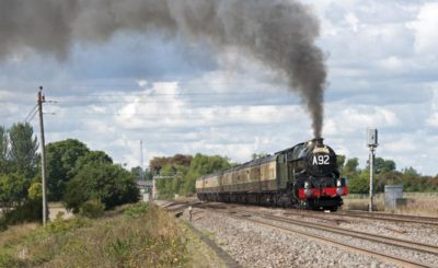 No. 6024 heads towards London at Wantage Road, where it had taken water, 28 August 2010. © Ian McDonald