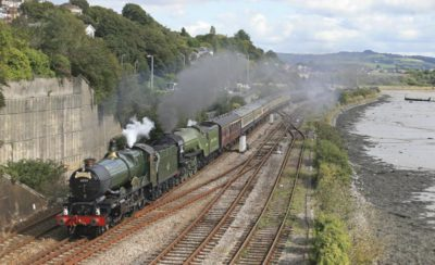 No. 6024 pilots No. 60163 Tornado past Laira, Plymouth, with an excursion from Bristol, 25 September 2010. © Ian McDonald