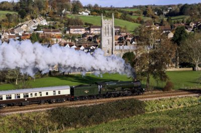No. 6024 climbs past Bruton with a Minehead to London Paddington charter, 18 November 2006. © Brian Bane
