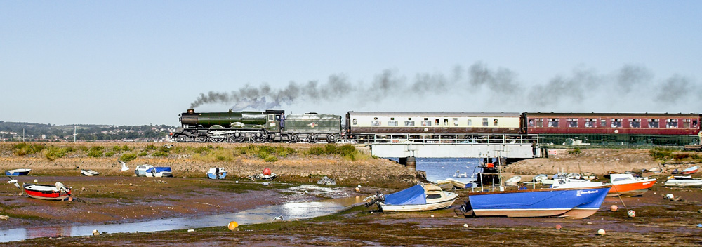 No. 6024 with the 'Torbay Express' at Cockwood Harbour. 28 August 2005 © Brian Bane