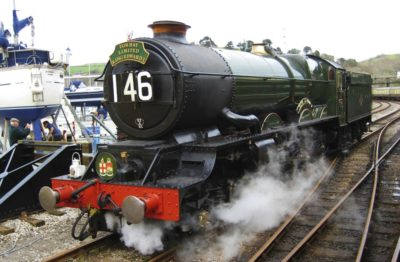 No. 6024 runs-round at Kingswear on its last mainline trip before overhaul, 17 March 2012. © Gerry Hurfurt