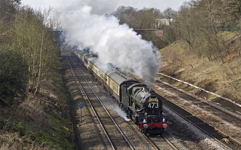 No. 6024 heads for London Paddington through Sonning Cutting, 3 March 2012. © Paul Blowfield