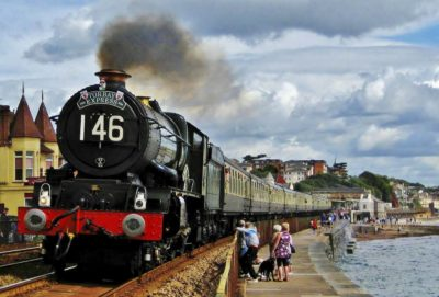 No. 6024 heads through Dawlish with the down 'Torbay Express', 7 August 2011. © Gerry Hurfurt