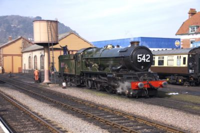 No. 6024 takes water at Minehead, 25 March 2012. © Brian Bane