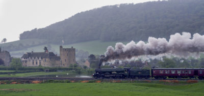 No. 6024 heads past Stokesay Castle on a murky day, 13 May 2006. © Brian Bane