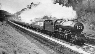 No. 6024 with a London bound express, 19 April 1954. © Dick Blenkinsop