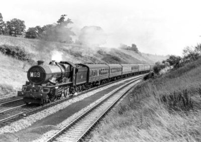 No. 6024 climbs Hatton Bank with the 09:10 Paddington to Birkenhead express, 15 August 1960. © T E Williams/NRM Collection.