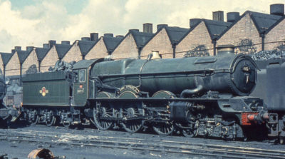 1,570,015 miles on the clock, No. 6024 stands withdrawn from service at Cardiff Canton depot, 1962. © Colour Rail