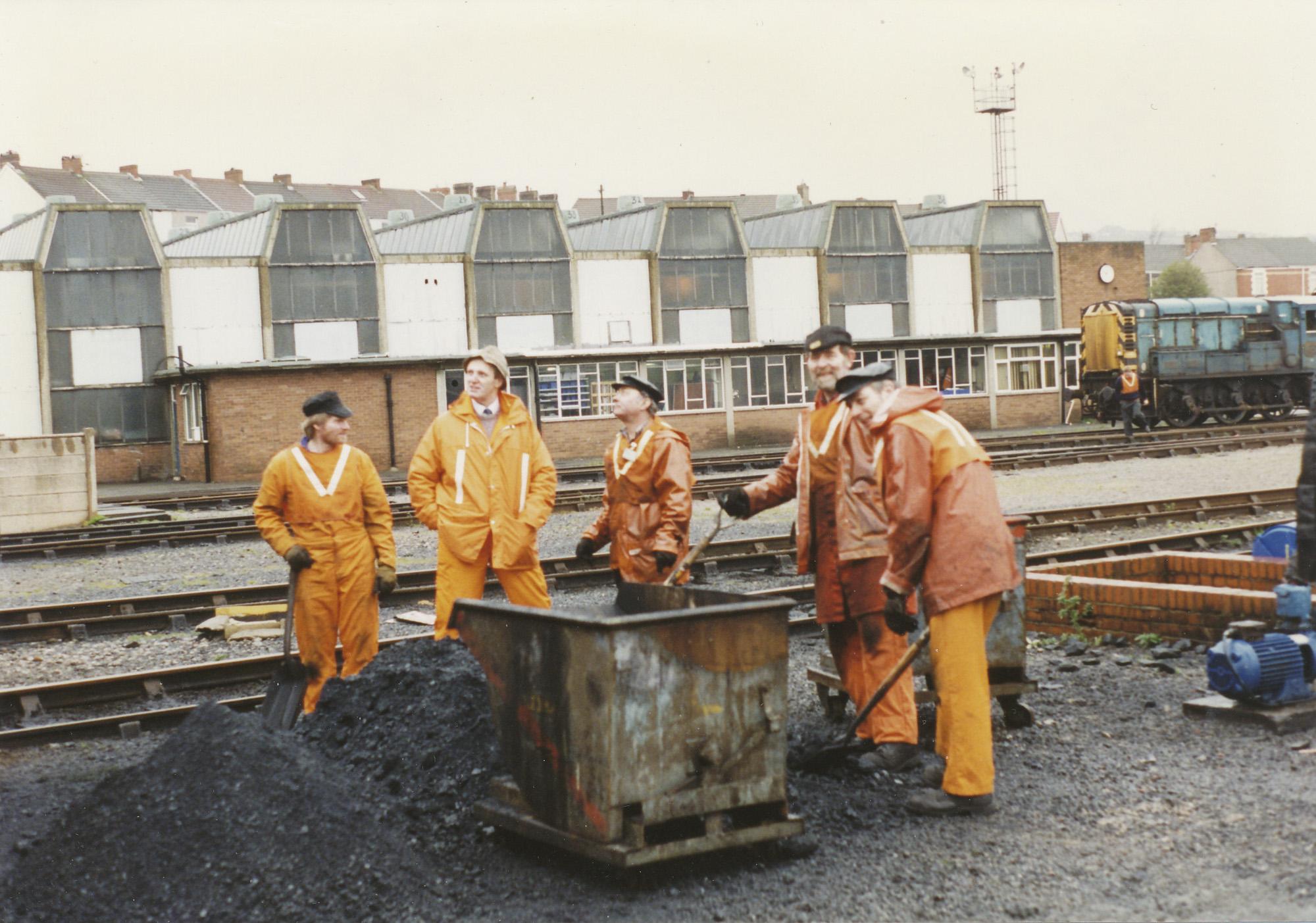 Swansea Landore, Tim Watson, Jack Jons (TI) Colin Washbourne, Dave Wintersgill and Richard Gould. © Bob Robson/6024PS Ltd