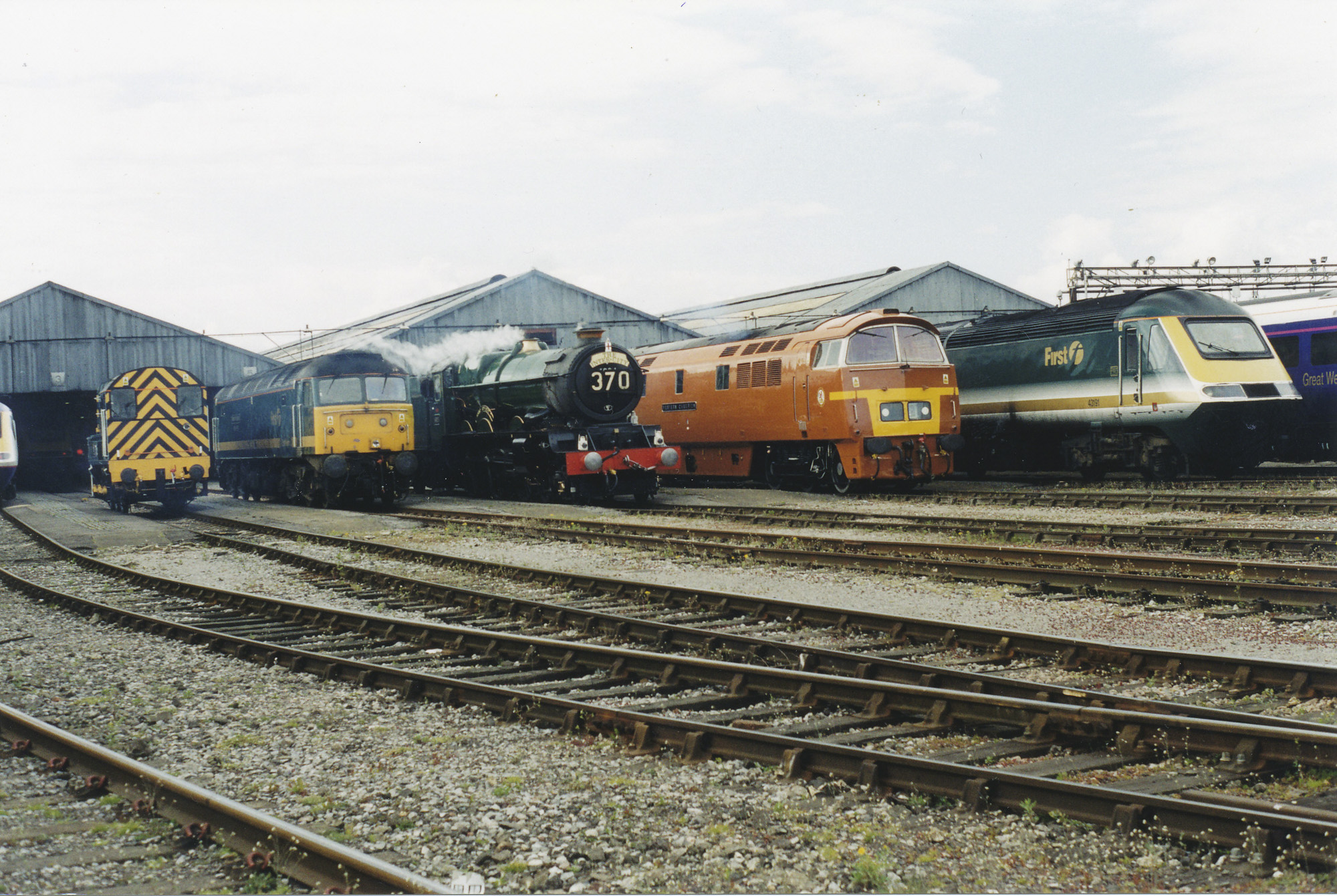 Traction line up at Old Oak Common. © Bob Robson/6024 PS Ltd