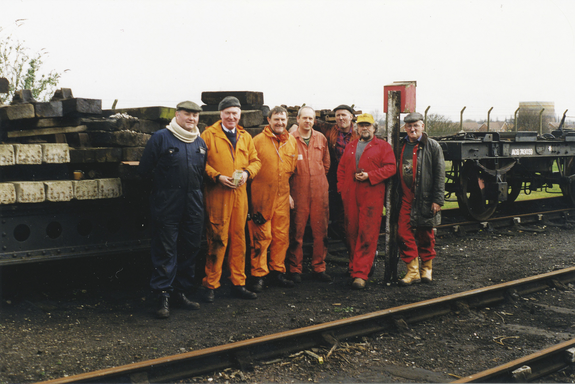 John Glaze, Brian Penney, Same Foster, Kevin Purser, Steve Underhill & two from Lancastrian Carriage and Wagon. © Bob Robson/6024PS Ltd