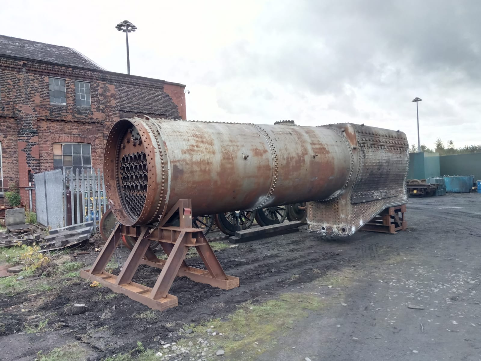 The boiler outside again in readiness for its hydraulic test. © Chris Bodell