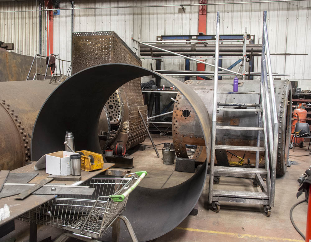 The new smokebox with the old one behind. © Martyn Bane