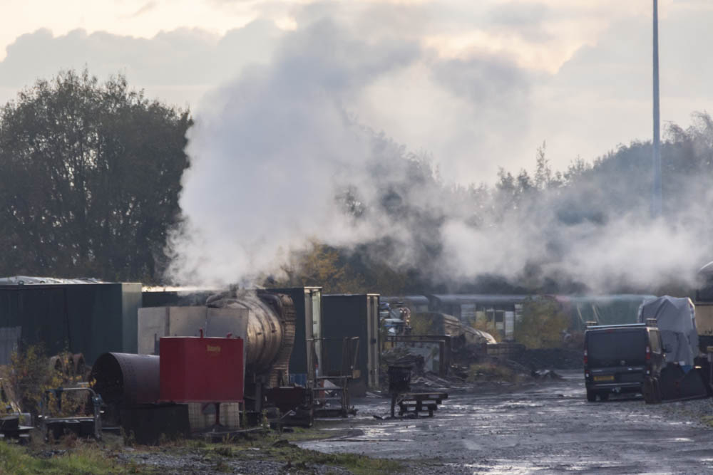 A long shot of 6024's boiler in steam once more. © Martyn Bane