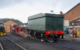 Unloading the tender at Minehead. © Martyn Bane