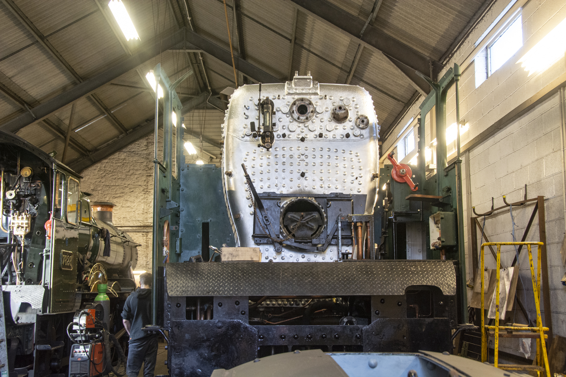 Shortly after the boiler had been refitted, plenty of work to do! 10 January 2020 © Martyn Bane