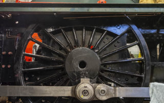 Left hand coupling rods in place. © Martyn Bane