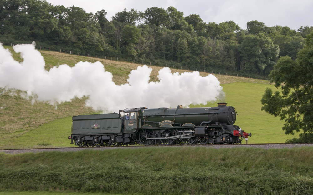 6024 at Castle Hill on the West Somerset Railway with Colin Henderson at the controls. 18 July 2009 © Martyn Bane