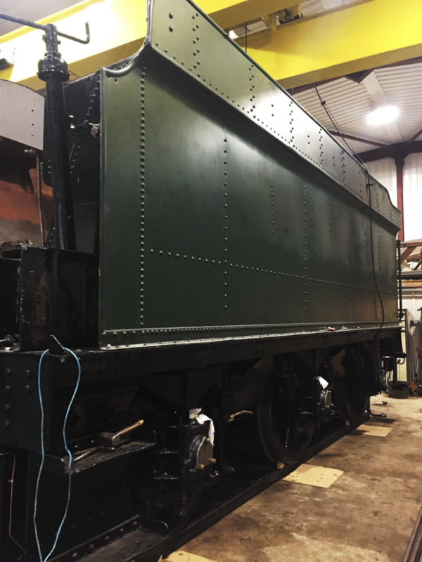 Looking closer to a finished tender. No.2425's tanks back on its chassis. © Shirley Turner
