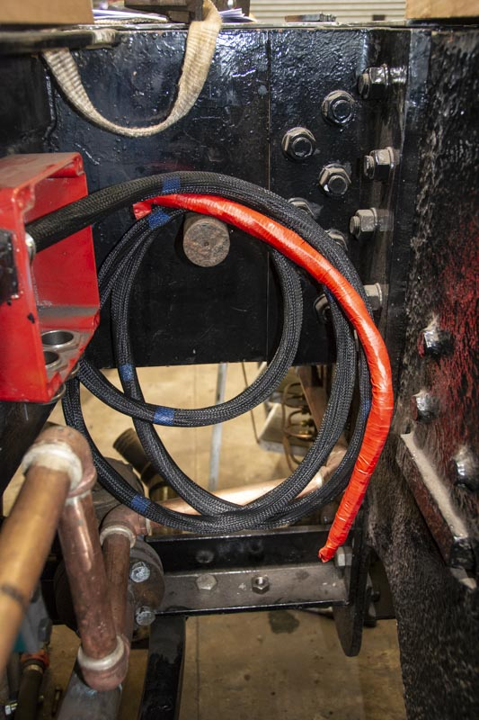 Part of the wiring being added to No. 6024's tender, 21 April 2018. © Martyn Bane