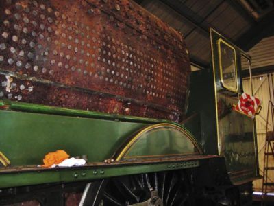 Nearly time to lift the boiler out of the frames, 6 July 2012. © Gerry Hurfurt