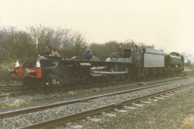 Chassis test with GWR Pannier Tank No. 9466 providing the power, 24 November 1987. © Chris Brown