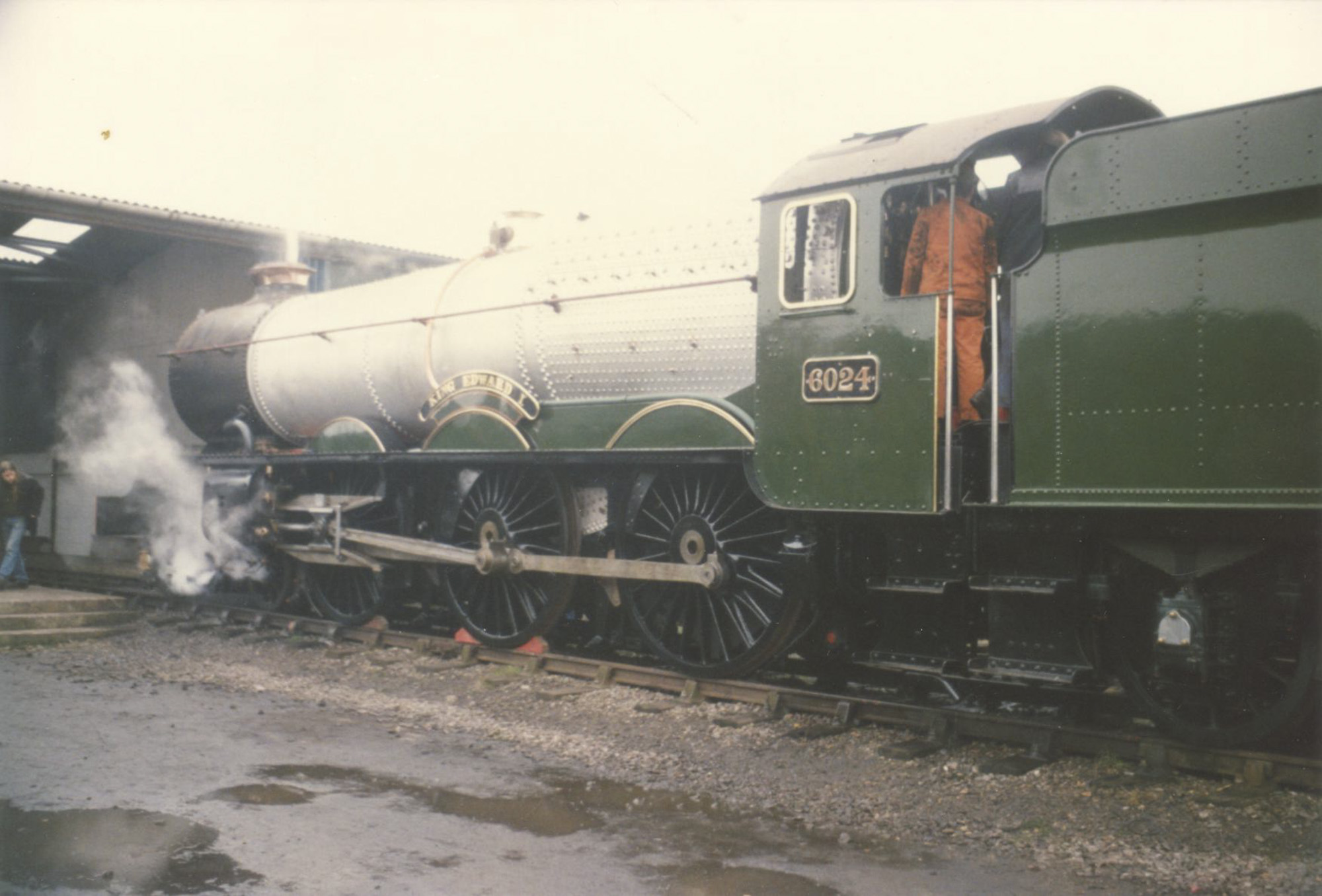 No. 6024 in steam for the first time in preservation, 2 February 1989. © Chris Brown