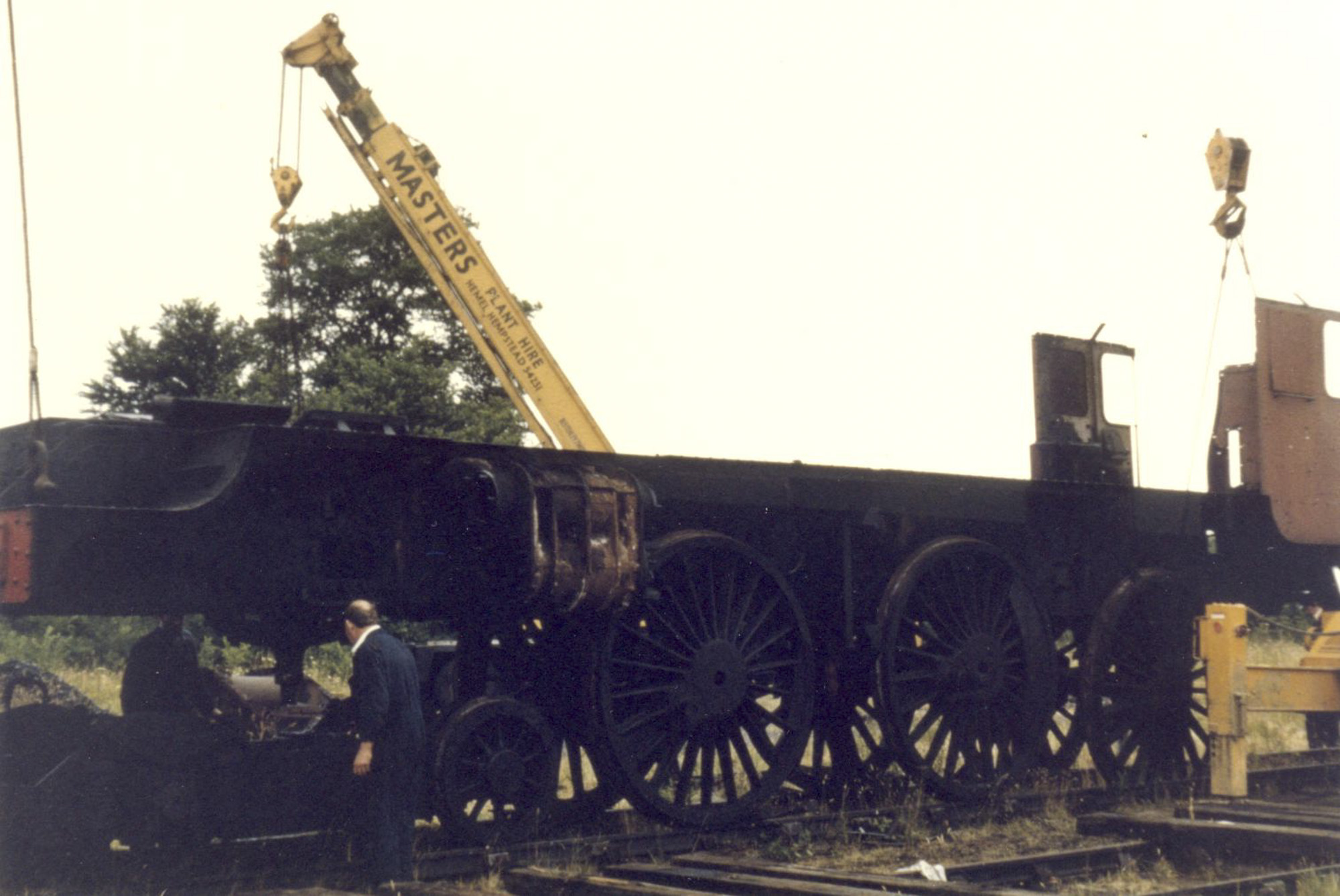 Stripping the locomotive, 27 July 1974. © Unknown, please contact us if you know the photographer