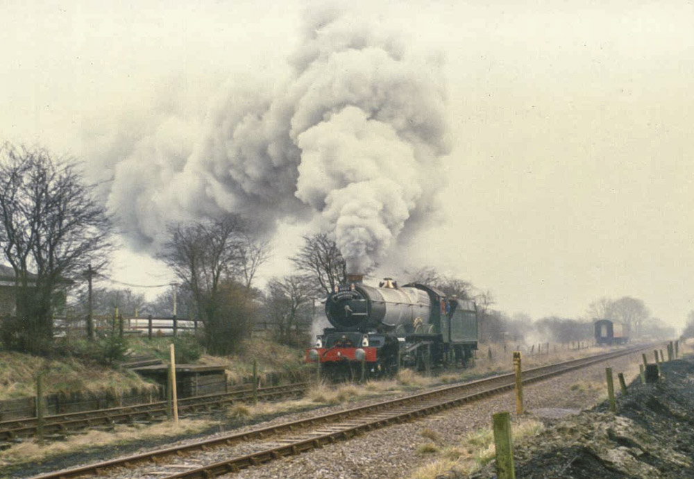 No. 6024 runs for the first time in preservation, 2 February 1989. © Chris Brown