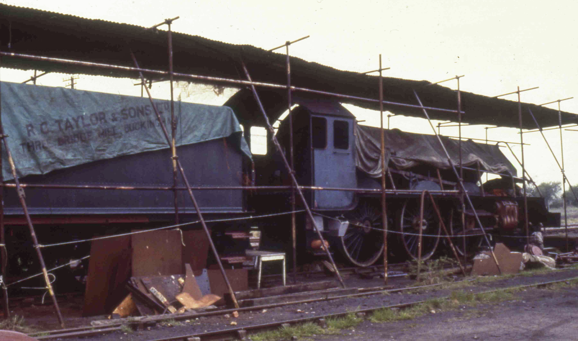 Under what was all the cover which was available at Quainton, 5 May 1984. © Unknown, please contact us if you know the photographer