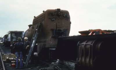Working on the boiler, 28 June 1985. © Unknown, please contact us if you know the photographer.