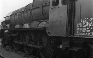 No. 6024 at Barry scrapyard awaiting rescue, early 1970s. © British Railways Photographs