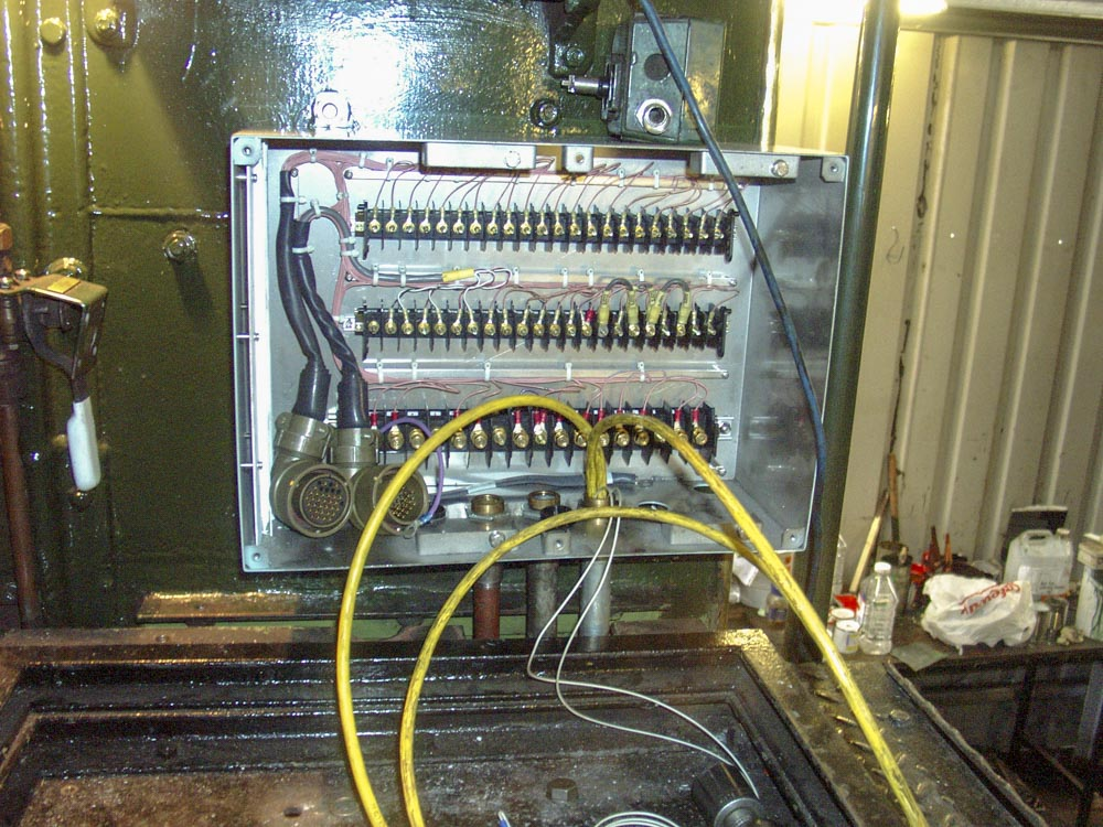 Just a small part of the wiring necessary for the TPWS fitment to No. 6024, 18 September 2004. © Martyn Bane