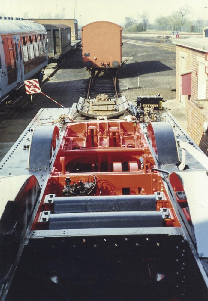 No. 6024's overhaul chassis at BAD Kineton, 1996.© Bob Robson/6024 PS Ltd
