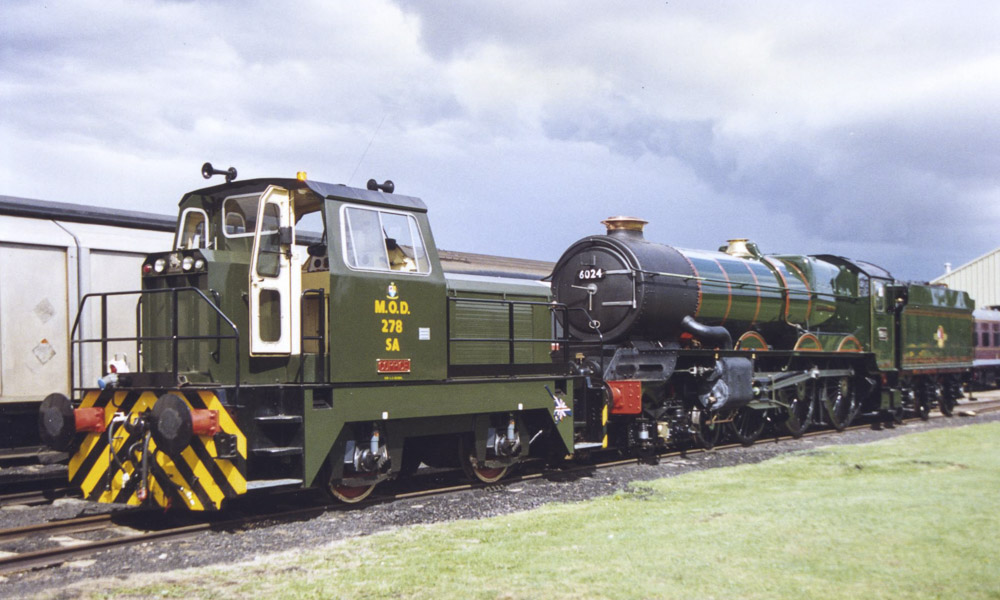 Overhaul nearly finished, No. 6024 at BAD Kineton, summer 1996. © Bob Robson/6024 PS Ltd